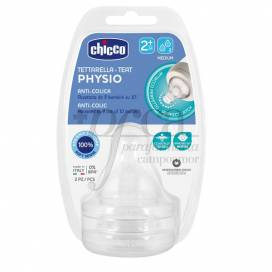 CHICCO SILICONE TEAT PHYSIO 2M+ 2 UNITS
