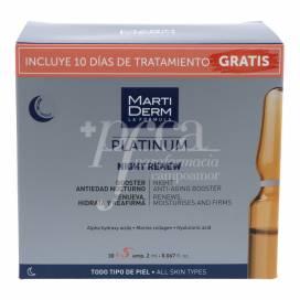 MARTIDERM PLATINUM NIGHT RENEW 30 + 5 AMPULLEN PROMO