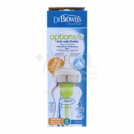 DR BROWNS FEEDING BOTTLE OPTIONS+ WIDE MOUTH GREEN 270 ML