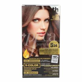 TH V-COLOR AMMONIAKFREI N534 HELLBROWN KUPFER GOLDEN