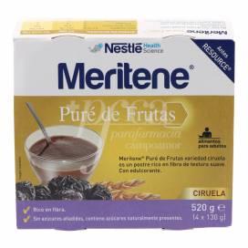 MERITENE PURE DE FRUTAS CIRUELA 4X130 G