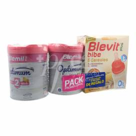 BLEMIL PLUS 2 OPTIMUM 2X800 G + BLEVIT PLUS 8 CEREAIS 600 G PRESENTE PROMO