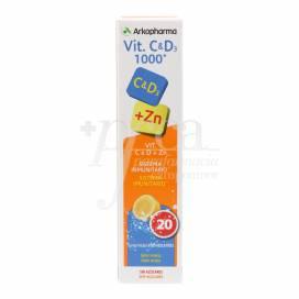 ARKOPHARMA VITAMINA C Y D3 1000 20 COMPS EFERVESCENTES