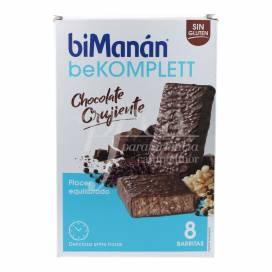 BIMANAN BEKOMPLETT BARRINHAS CHOCOLATE CROCANTES 8 UNIDADES