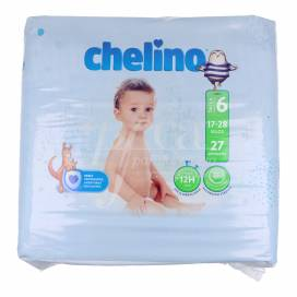 CHELINO LOVE DIAPERS SIZE 6 17-28 KG 27 UNITS