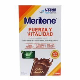 MERITENE FUERZA Y VITALIDAD BATIDO CHOCOLATE 15 SAQUETAS