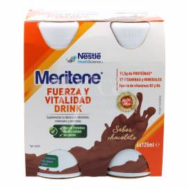 MERITENE DRINK 4 BOTELLAS 125 ML SABOR CHOCOLATE