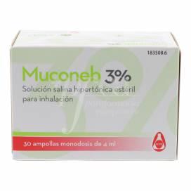 MUCONEB 3% SALZLÖSUNG 30X4 ML