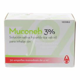 MUCONEB 3% SOLUÇÃO SALINA 30X4 ML