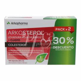 ARKOSTEROL RICE RED YEAST AND Q10 2X60 CAPSULES PROMO