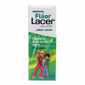 LACER COLUTÓRIO FLÚOR DIÁRIO 0.05% SABOR MENTA 500 ML