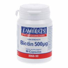 BIOTINA 500 MCG 90 CAPS LAMBERTS