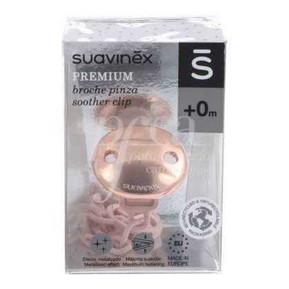 SUAVINEX PREMIUM SCHNULLER CLIP ROSA CN162103