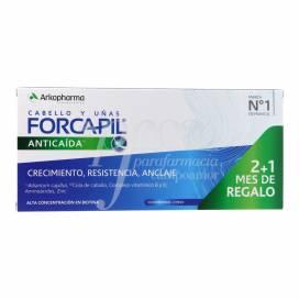 FORCAPIL ANTI-PERDA CABELO E UNHAS 90 CÁPSULAS 2+1