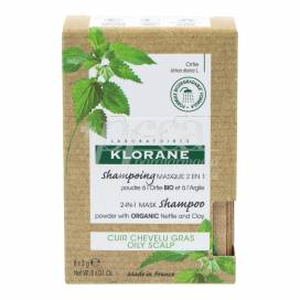 KLORANE NETTLE AND CLAY SHAMPOO MASK 2 IN 1 8 SACHETS 3 G