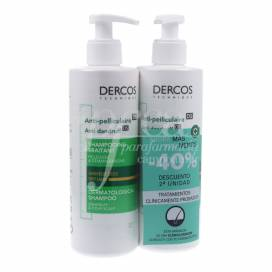 DERCOS ANTI-DANDRUFF SHAMPOO FOR DRY HAIR 390+390 ML PROMO