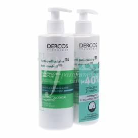 DERCOS SCHUPPEN SHAMPOO NORMAL-FETTIG 390+390 ML PROMO