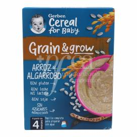 GERBER RICE AND CAROB 250 G +4M