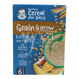 GERBER 8 CEREALS FRUIT 250 G +6M