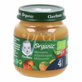 GERBER ORGANIC APPLE PEACH APPLE APRICOT 125 G +4M
