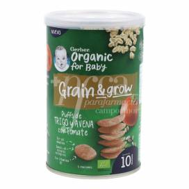 GERBER SNACK ORGANIC WHEAT OATS WITH TOMATO 35 G +10M