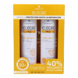 HELIOCARE 360 SPRAY INVISÍVEL SPF50 2X200 ML PROMO