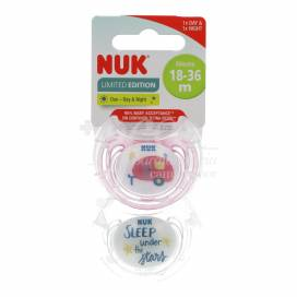 NUK HELLO ADVENTURE SILICONE ANATOMICAL PACIFIER 18-36 MONTHS 2 UNITS