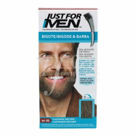 JUST FOR MEN BIGOTE E BARBA CASTANHO ESCURO