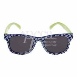 CHICCO BLUE WITH HEARTS AND GREEN SUNGLASSES +24 MONTHS