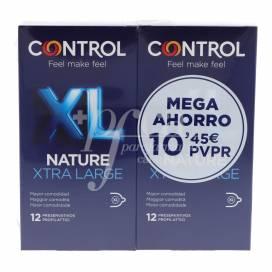 CONTROL PRESERVATIVOS NATURE XL 12 UNIDADES + 12 UUNIDADES PROMO