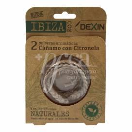 DEXIN PULSERA DE CITRONELA IBIZA ECO 2 UDS