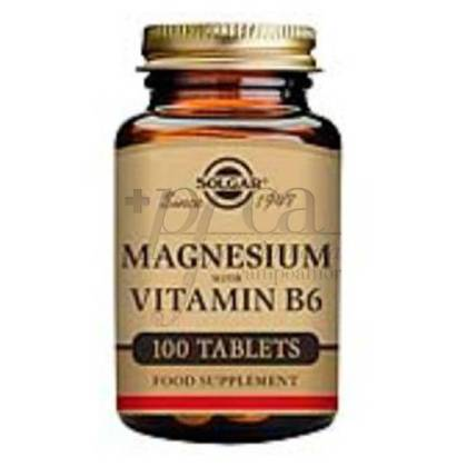 MAGNESIO+VIT B6 100 COMP SOLGAR