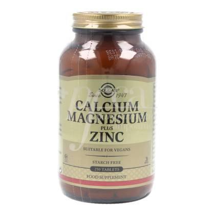 CALCIUM MAGNESIUM ZINC 250 TABLETTEN SOLGAR