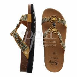 SCHOLL NEW BOGOTA WEDGE SANDALS GOLD SIZE 39