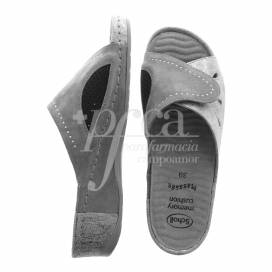 SCHOLL SANDALS NIVES GREY SIZE 39