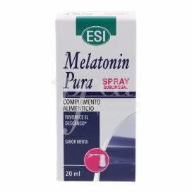 MELATONIN PURA SPRAY SUBLINGUAL SABOR MENTA 20 ML ESI