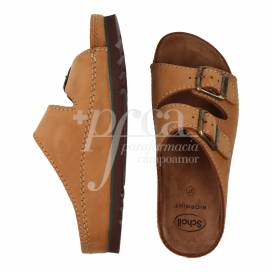 SCHOLL AIR BAG SANDAL LEATHER SIZE 37