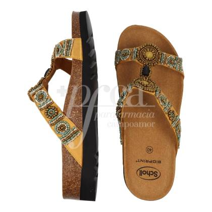SCHOLL NEW BOGOTA WEDGE GOLD SANDAL SIZE 40