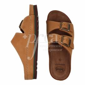 SCHOLL AIR BAG LEATHER SANDAL SIZE 38