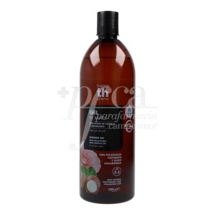 TH BATH GEL POLYPHENOLS + HYALURONIC ACID CAMELLIA AND MACADAMIA 1L