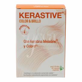 KERASTIVE COLOR AND WHITE HAIR 60 CAPSULES