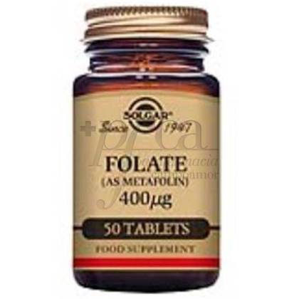 FOLATE 400 MCG 50 TABLETS SOLGAR