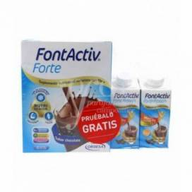 FONTACTIV FORTE 14 BEUTEL 30 G SCHOKOLADE + 2 BRICKS 200 ML PROMO