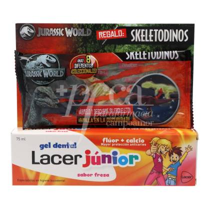 LACER JUNIOR TOOTH GEL STRAWBERRY FLAVOUR 75 ML + GIFT PROMO