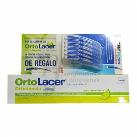 ORTOLACER TOOTHGEL LIME FLAVOUR 125 ML + 30 INTERDENTAL LACER PICKS INTERDENTAL GIFT PROMO