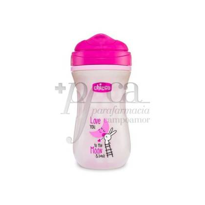 CHICCO PINK FLUORESCENT CUP +14M