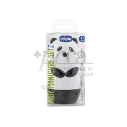 CHICCO PANDA BEAR MANICURE SET 4 IN 1 +0M