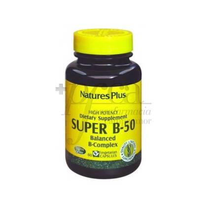 SUPER B 50 COMPLEX 60 CAPSULES NATURESPLUS