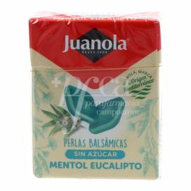 JUANOLA PÉROLAS BALSÂMICAS MENTOL EUCALIPTO 25G