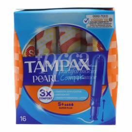 TAMPONES TAMPAX COMPAK PEARL SUPER PLUS 16 EINHEITEN